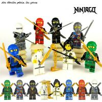 Lot/pack de 8 figurines Ninjago type Lego style classique.
