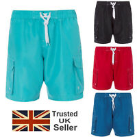 Mens Elasticated Casual Cargo Combat Shorts Summer Holiday Cotton Half Pants New