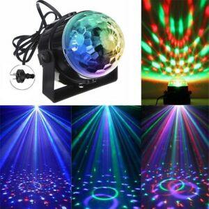 Disco Lights Ball with Remote Colorful Crystal Magic Ball for Christmas Party