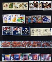 GR. BRITAIN 1988 Complete Commemorative Year, 8 sets Mint NH