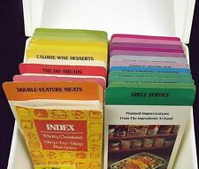 Betty Crocker Vintage Step-by-Step Recipe Card Index File 720 Pages White Box
