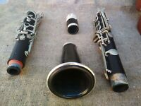 Vintage USSR Clarinet Musical Instrument & Case