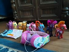 Lot of 12 My Little Pony Toys and Headphones, Girl Gift Set, Movie Tv Characters