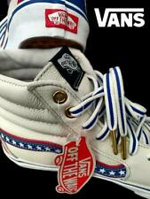 "VANS SK8 HI ""EVIL KENIVIL"" WHITE LEATHER USA STARS 80-S RETRO LIMITED EDITION 7"