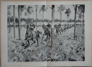 Frederic Remington A New Year on the Cimarron 1903 Vintage Lithograph