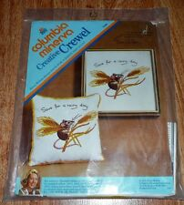 """Save for a rainy day""  Columbia Minerva Crewel KIT 7439 *NOS Sealed (1974)"