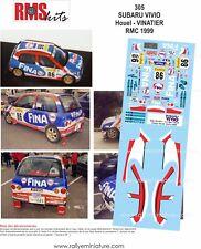 DECALS 1/24 REF 0305 SUBARU VIVIO HOUEL RALLYE MONTE CARLO 1999 RALLY WRC
