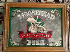 Vintage Moosehead Beer Bar Mirror Sign Canadian Lager Man Cave Cabin