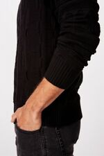 Cotton On Mens Vintage Multi Knit Knits  In  Black