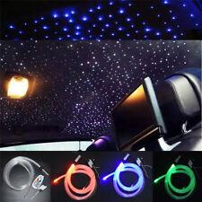 Car Optic Fiber RGB LED 0.75mmX200pcsX2m Star Ceiling Light Kit Adjustable DC12V