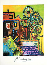 Pablo Picasso, COMPOSITION DE JARDIN, Plate Signed, Marina Picasso Collection