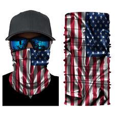 Motorcycle Bike Rider Balaclava Scarf America USA Flag Neck Gaiter Face Cover