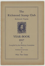 Vtg 1937 Richmond Virginia,Va.Stamp Club Yearbook,Sales Dept.Book,Philatelic