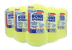 Lot of 6 Automotive Bone Sponge Detailing Fins Wash Cars Boats Large Easy Grip