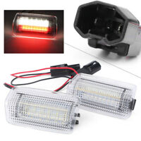 Car LED SMD Door Welcome Courtesy Light Lamp For Toyota Camry Lexus White & Red
