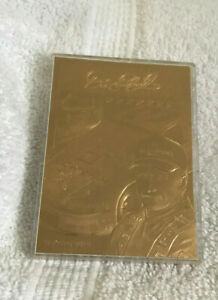 Dale Earnhardt Sr 23 Kt Gold 7 Times Champ Classic Trading Card & Case No 0485