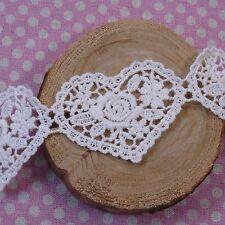 """Motif Cotton Crochet Lace Lovely Heart Love 2.1""""(5.5cm) Wide 1Yd, 17 Cuts"""