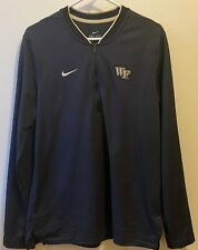 Wake Forest University Nike Dri-Fit Long Sleeve Pullover 1/4 Zip Men's Medium