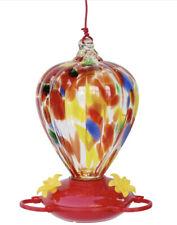 32-oz Art Glass Hummingbird Feeder