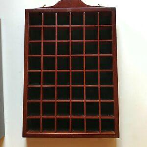 Wooden Thimble Display Case for 48 Collectable Items - Lot 1