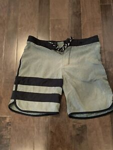 "Hurley Phantom Men's Board Shorts Size 32 Gray Color Block 8"" Inseam 11.5"" Rise"