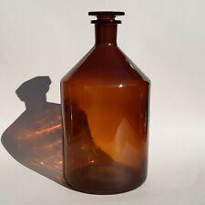 Ancienne bouteille de pharmacie - flacon en verre marron N° 1