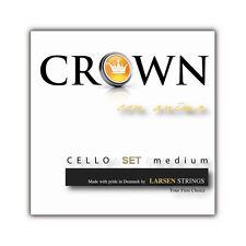 New Larsen Crown 4/4 Cello String Set Medium FREE USA SHIPPING