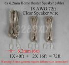 6 speaker cable/wires 72ft made for 6.2mm Sony Samsung LG Philips HT/Plasma TV