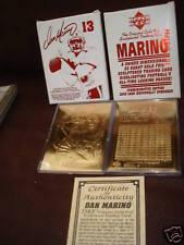 Dan Marino Commemorative Bleachers 23 karat Gold Card Numbered to 10,000-NIB!