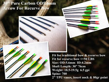 """6)30"""" pure carbon arrow SP 700 target arrow both for recurve & tradition bow"""