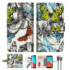 Butterfly Garden Wallet TPU Case Cover For LG G4-- A018