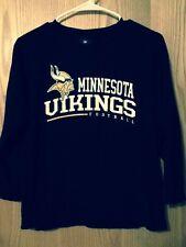 Minnesota Viking Football Black T-Shirt Youth M 10/12 NFL Team Apparel