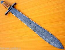 """CUSTOM DAMASCUS STEEL HUNTING KNIFE / BOWIE / DAGGER / VIKING CELTIC SWORD 27.5"""""""