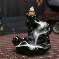 Ceramic Waterfall Backflow Smoke Incense Burner Censer Holder Decoration Gift