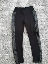 MarlaWynne Solution Legging with Faux Leather Side Trim BLACK M RRP £69.50