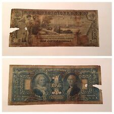 VINTAGE $1 1896 EDUCATIONAL NOTE SILVER CERTIFICATE ONE DOLLAR BILL HISTORICAL