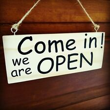 Open Closed shop sign notice Wood sign - double sided , business signs