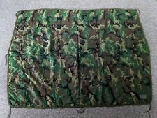 Vintage U.S.Army Wet Weather Poncho Liner Woodland Camo Unissued Condition