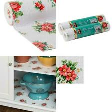 """Pioneer Woman Non-Adhesive Shelf Drawer Liner 12"""" x 20' Vintage Floral Red,white"""