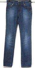 BURBERRY LONDON WOMEN'S Sz 2 SKINNY SLIM 100% COTTON BLUE JEANS LOW RISE 27x32