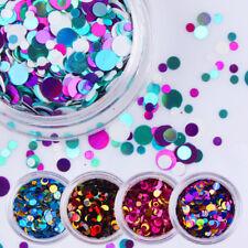12 Colors Set Nail Art Glitter Sequins Paillette Round Manicure Tips Decoration
