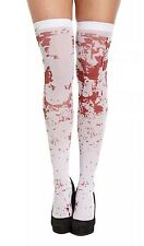 Bloody White Hold Up Stockings Zombie + Blood Stained Halloween Fancy Dress