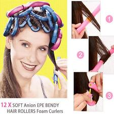 12Pcs Women Self-adhesive Curly Sponge Hair Stick HairStyle Maker Tool DIY Salon