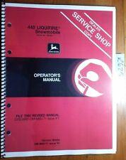 John Deere 440 Liquifire Snowmobile S/N 190001-222000 Owner Operator Manual 8/81