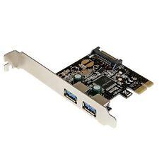 startech.com 2 Puertos PCI Express PCIe SuperSpeed USB 3.0 Tarjeta Controladora