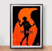 The Birds Movie Poster Film Vintage Art Retro Print Alfred Hitchcock