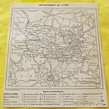 1898 Département de l'Oise 60. Beauvais art print gravure géographie vintage