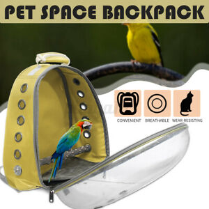 Protable Bird Pet Carrier Cage Bag Breathable Carrier Backpack Travel Outdoor AU