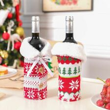 Christmas Creative Champagne Cover Bottle Bags Decoration Home Party Santa Claus