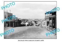 OLD LARGE PHOTO OF BALMAIN SYDNEY NSW DARLING STREET c1870
